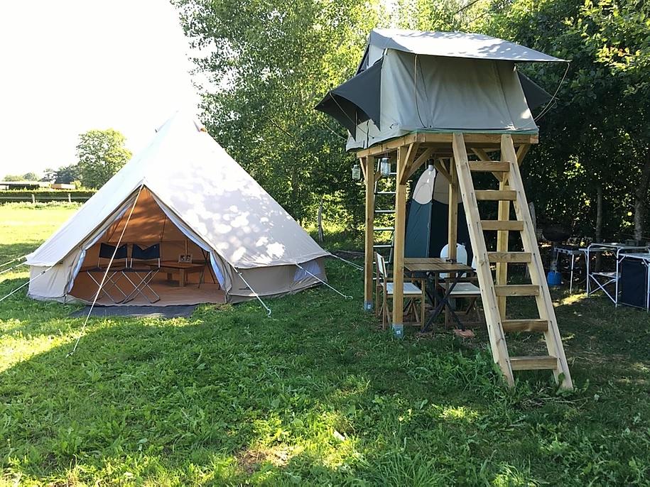 Pop-up camping en glamping - Reisgelukjes - Dobbelhuizen in België