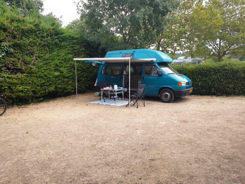Kampeerplaats op Camping de la cite in Carcassonne