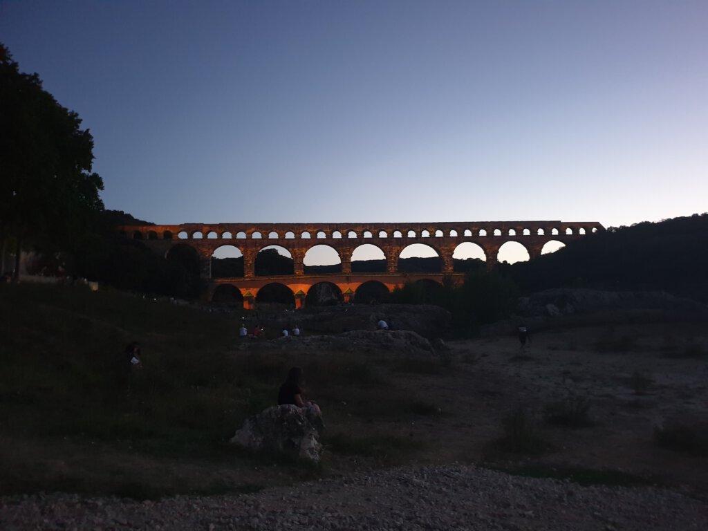 Hoogtepunt in Frankrijk: Lichtshow bij Pont du Gard