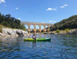 Hoogtepunt: Kanoën bij Pont du Gard