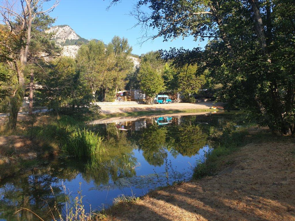 Ons campertje op camping Domaine du Verdon, helaas geen aanrader