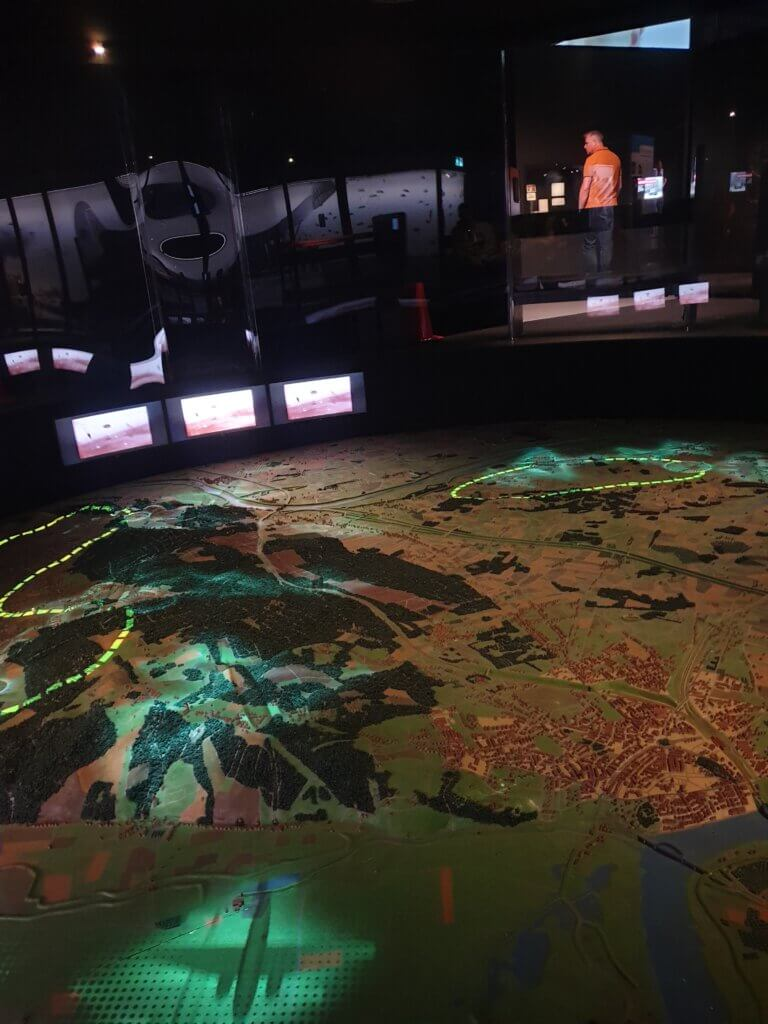 Marquette van Operation Market Garden in het Vrijheidsmuseum