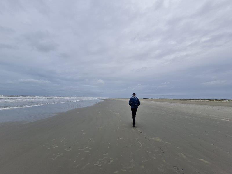 Uitgestrekte stranden van paal 7 tot paal 10 op Schiermonnikoog