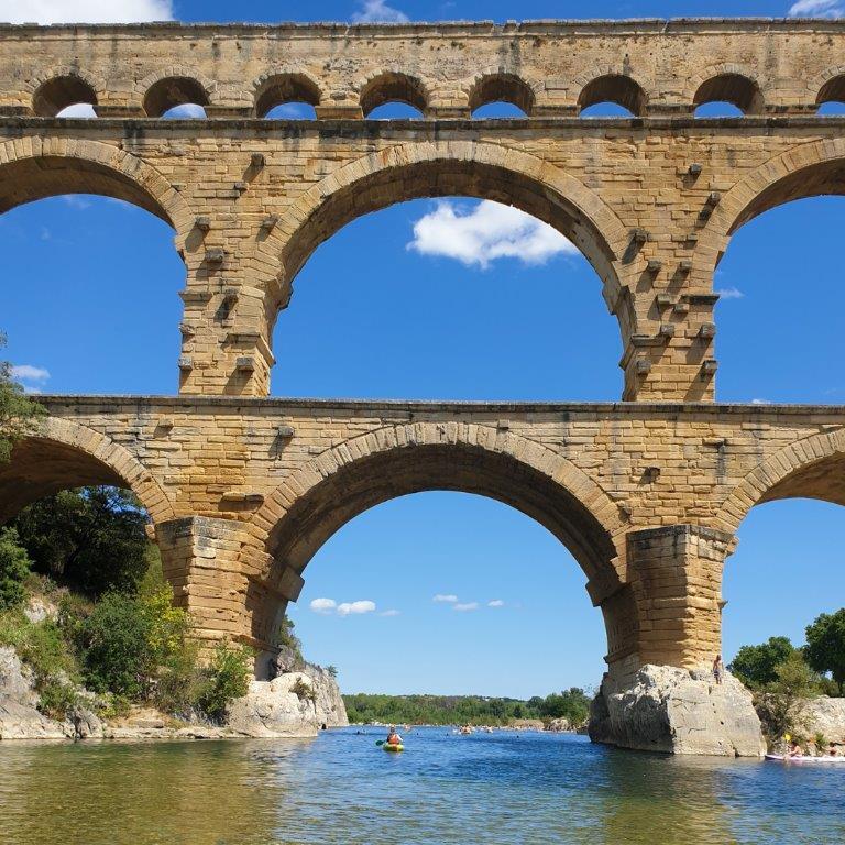 In mijn reistop-10: Kanoën onder Pont du Gard