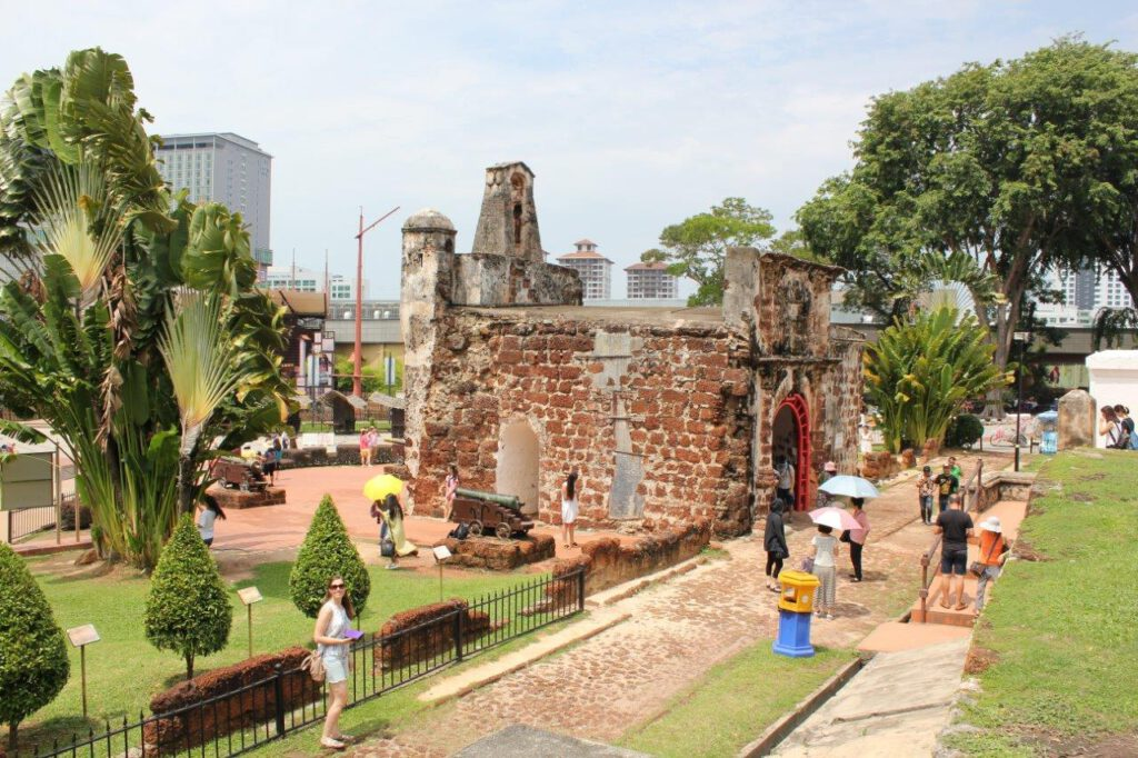 A Famosa fort in Malakka