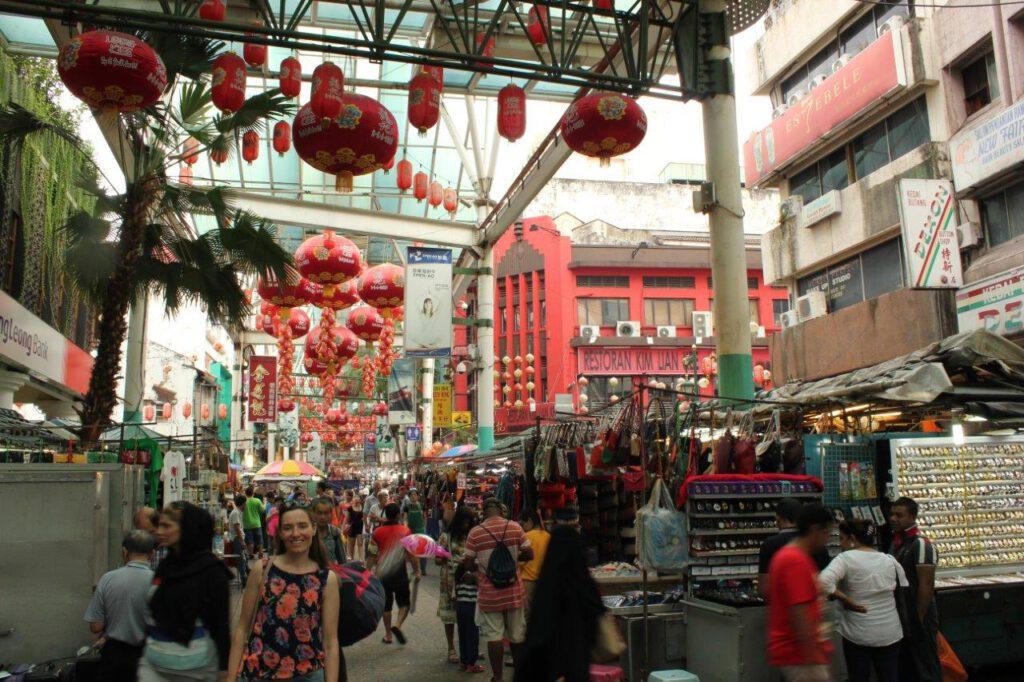 Ga shoppen het Chinatown van Kuala Lumpur