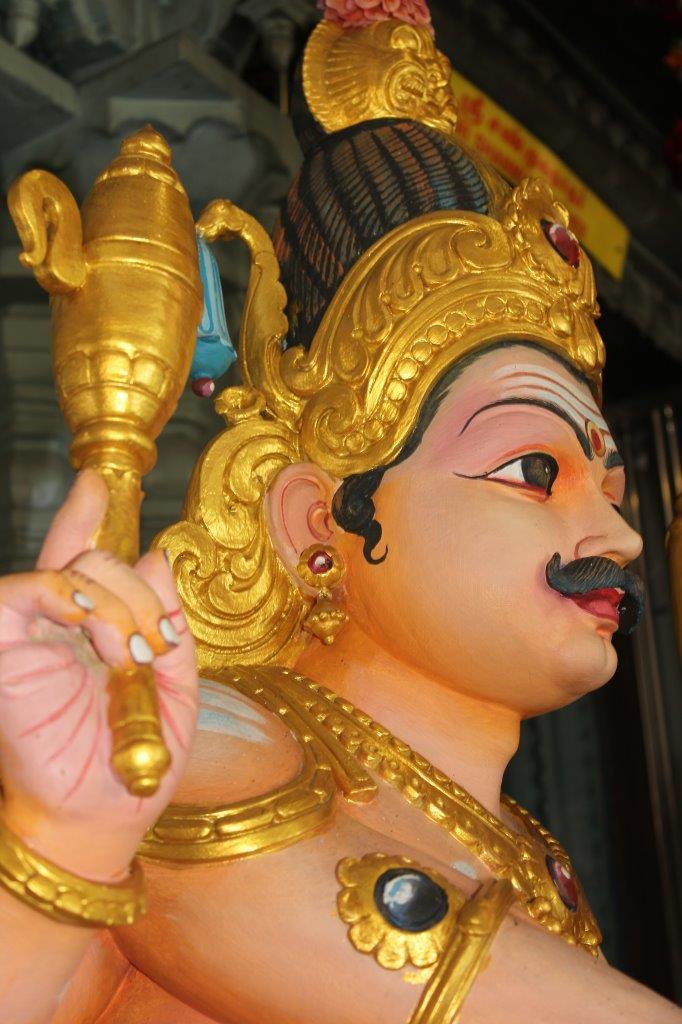 Beeld in de Hindustaanse tempel bovenop Penang Hill in Maleisië