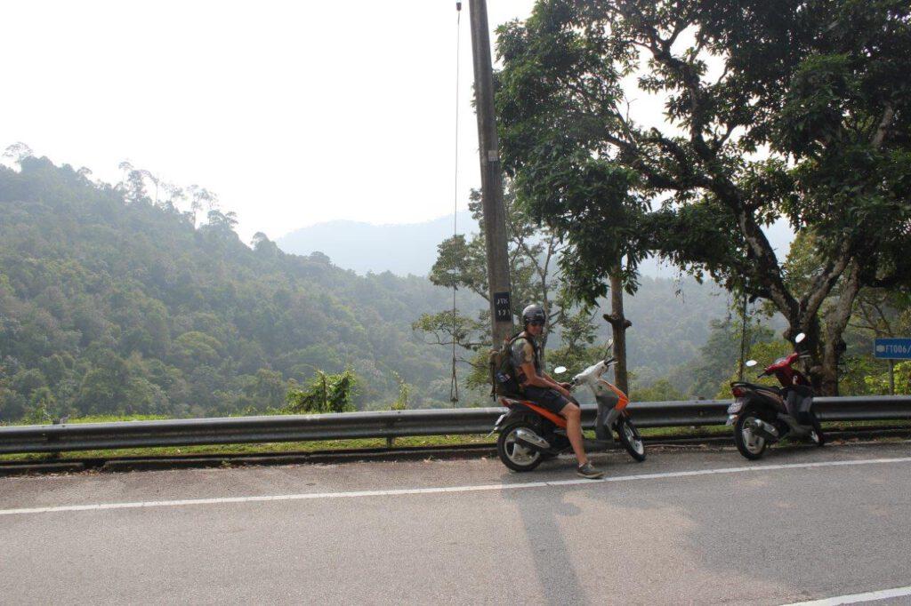 Scooterrijden op Penang
