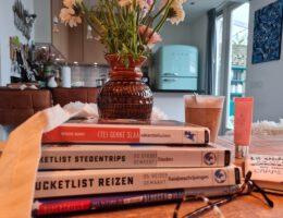 Stapel met leuke reisboeken