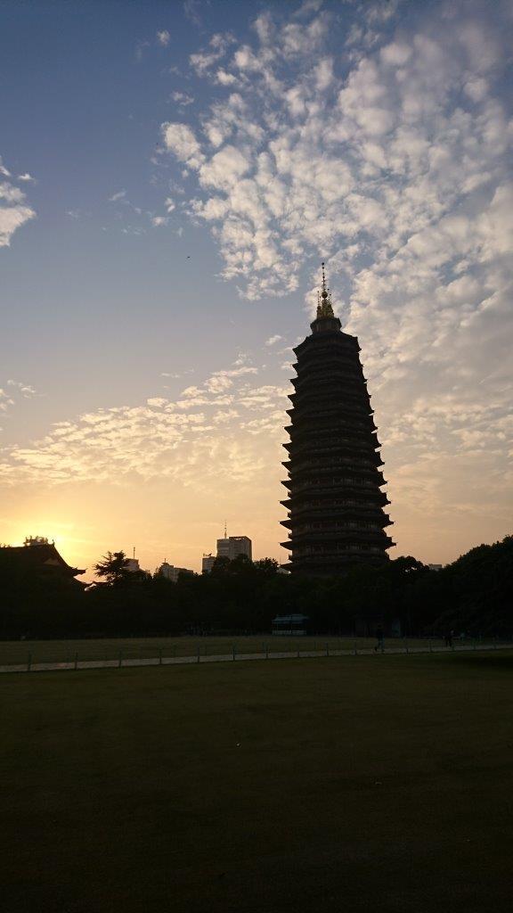 Tianning Temple hoogste pagode tijdens reis China 2 weken