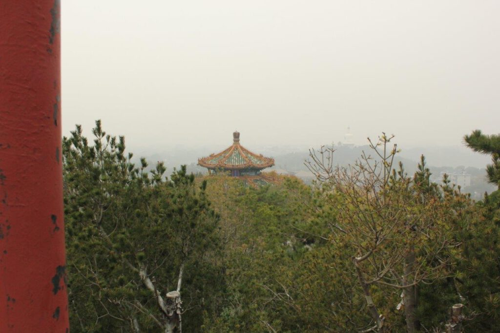 Bezoek tijdens een reis van 2 weken door China het Jingshang park
