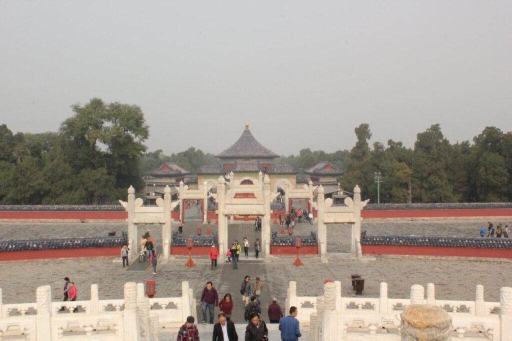De Brug van de Rode Treden in het Hemelpark in Beijing