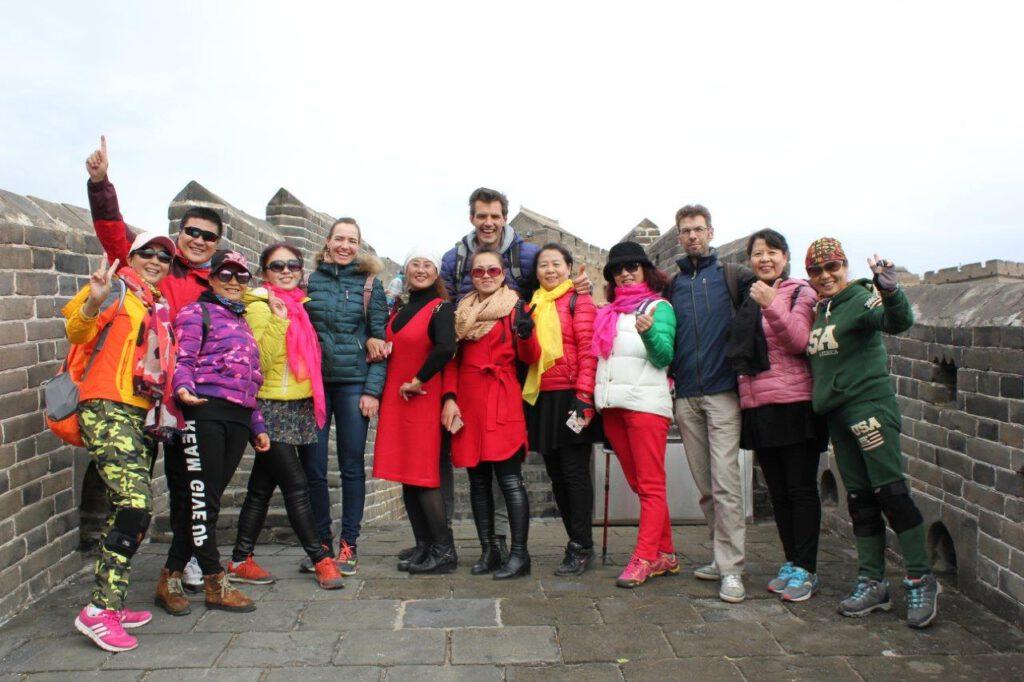 Wij waren de attractie voor Chinezen op de Chinese muur