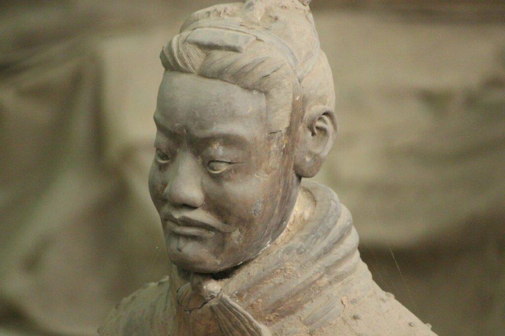 Soldaat van het Terracotta leger in Xi'an