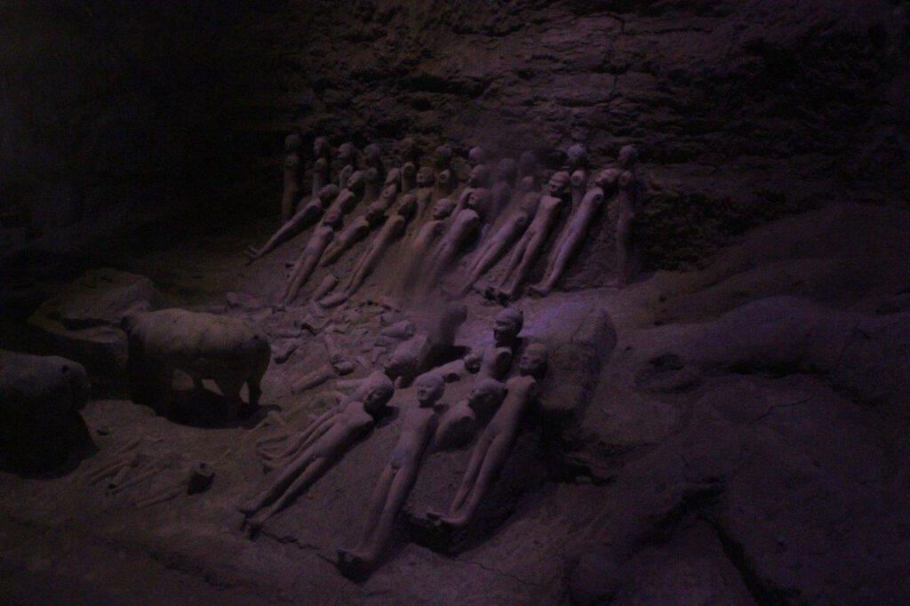 Terracottafiguren in de tombe van keizer Jingdi Xi'an