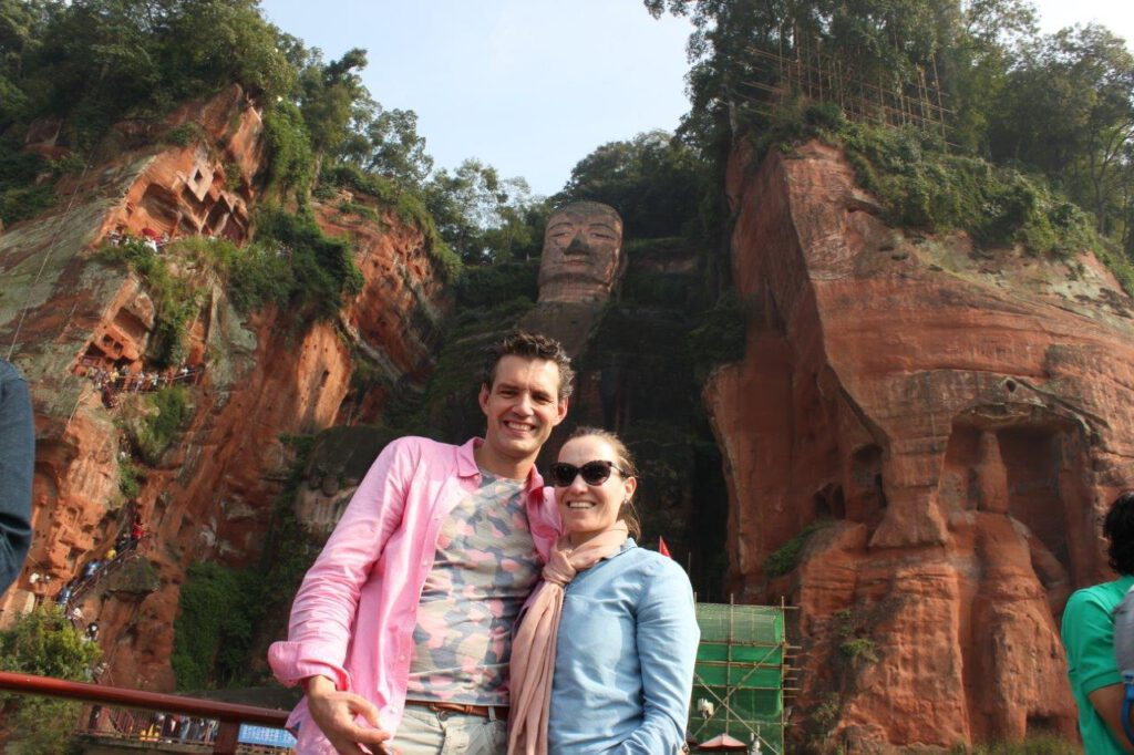 Boeddha van Le Shan tijdens een rondreis China