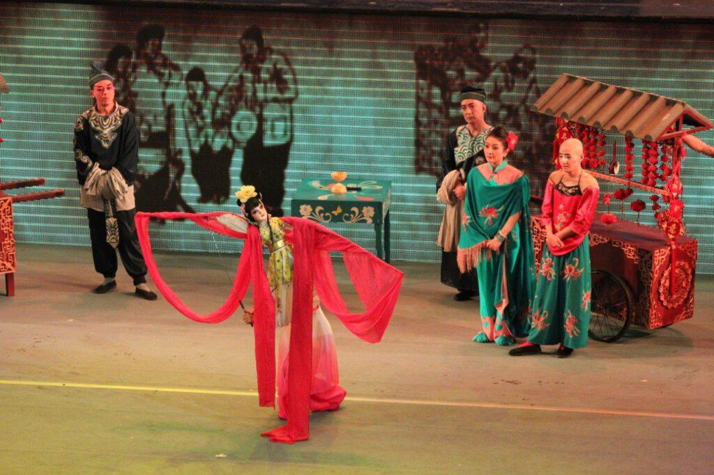 Sichuan opera tijdens een rondreis China in Chengdu