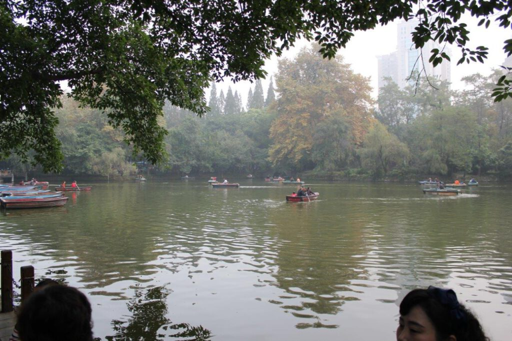 Een park in Chengdu China