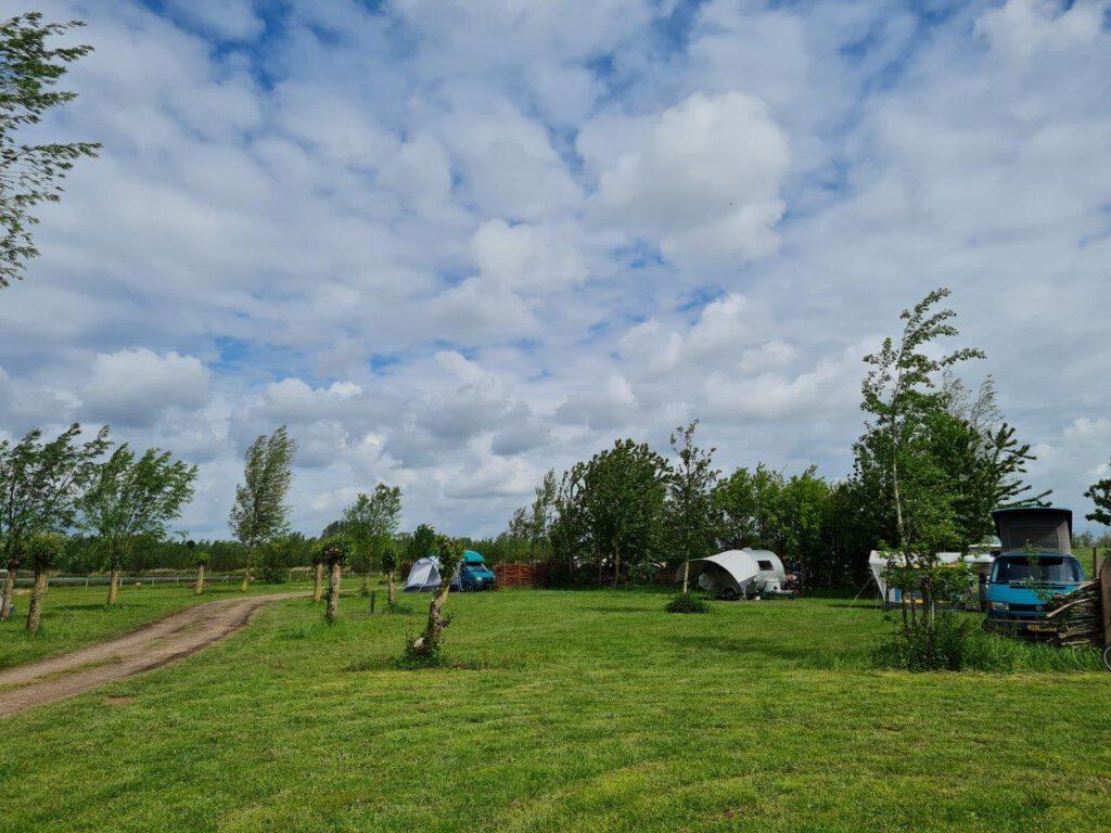 camping De Knotwilg in de Biesbosch voor tweedehands campers