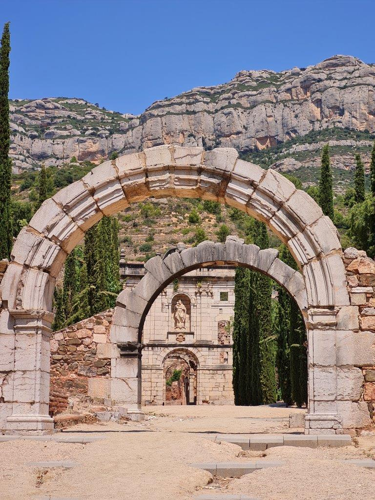 Ingang Cartoixa d'Escaladei in Spanje