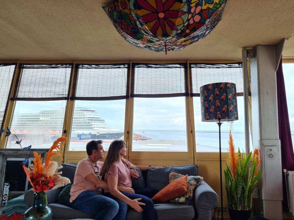 Samen bootjes kijken vanuit de Seinpoststelling in IJmuiden